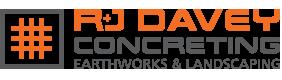 R J Davey Concreting Earthworks & Landscaping Logo